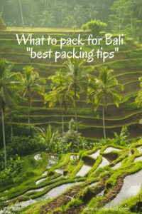What to pack for Bali
